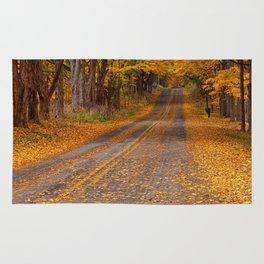Fall Rural Country Road Rug