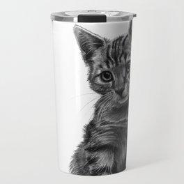 Kitty - PENCIL DRAWING Travel Mug