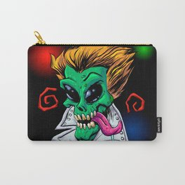 Green Alien zombie in the party. Carry-All Pouch