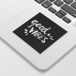 Good Vibes – White Ink Sticker
