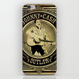 Johnny Cash Outlaw iPhone Skin