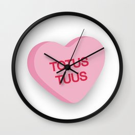 Catholic Conversation Heart Totus Tuus Wall Clock