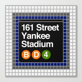 subway yankee stadium sign Canvas Print
