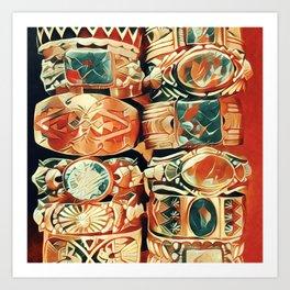 Western Bracelet Collection Art Print