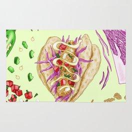 Fish Taco Diagram Rug