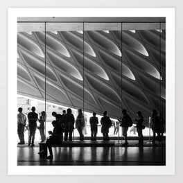 Queueing Art Print