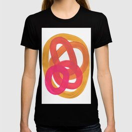 Warm Candy Colors Magenta Yellow Nesting Circles Ombre T-shirt
