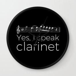 Yes, I speak clarinet Wall Clock
