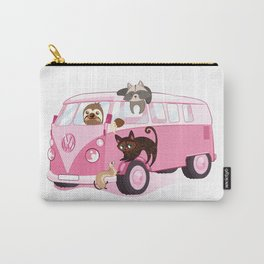 Happy pink bus Carry-All Pouch
