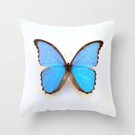 Blue Morpho Butterfly Throw Pillow