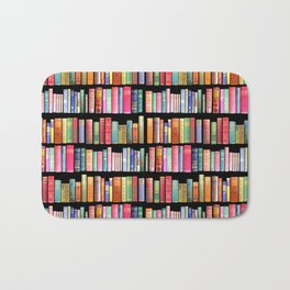 Antique Book Library for Bibliophile Bath Mat