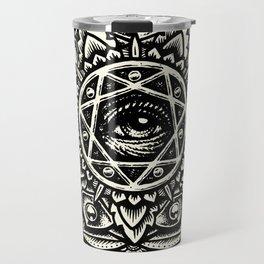Eye of God Flower Travel Mug