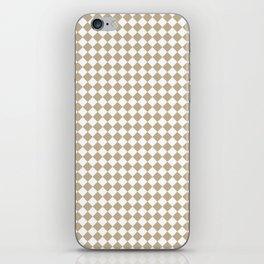 Small Diamonds - White and Khaki Brown iPhone Skin