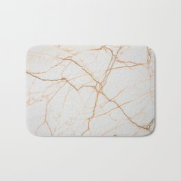 white marble Marble white and gold red vains real marble texture Bath Mat