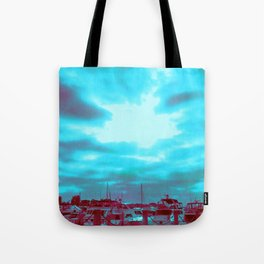 High Rise and Blue Skies Tote Bag