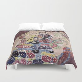 Gustav Klimt - The Maiden Duvet Cover