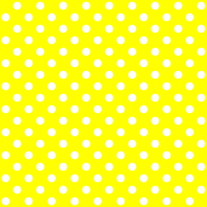 Small Polka Dots - White on Yellow Comforters