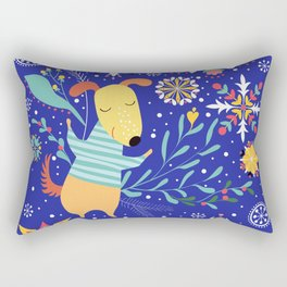 Happy Dog Year Rectangular Pillow