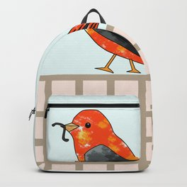 lonely bird walking with the worm Backpack