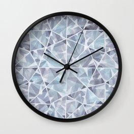 Grey Round Gem Wall Clock