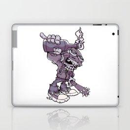 Anarchy Skeleton - Amethyst Smoke Laptop & iPad Skin