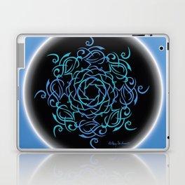 Namaste Mandala Glow - Blue Black Laptop & iPad Skin