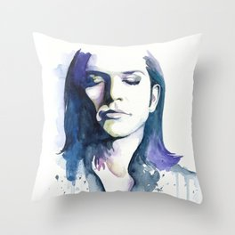 Brian Molko (Lilac) Throw Pillow