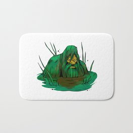 Bigfoot  creeping in swamp Bath Mat