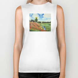 Claude Monet - Poppy Field at Argenteuil Biker Tank