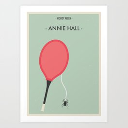 """Woody Allen """"Annie Hall"""" Movie Poster Art Print"""