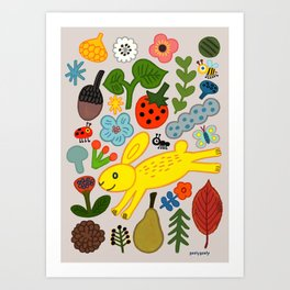 YELLOW FOREST Art Print