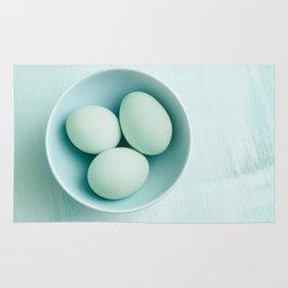 Organic eggs from Easter egger chicken Rug