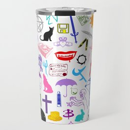 Buffy Symbology, Multi-color / Rainbow / PRIDE! Travel Mug