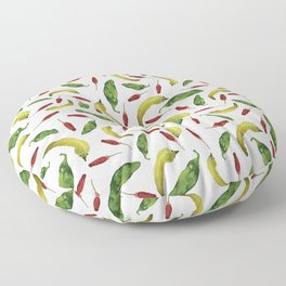 Jalapeno, Banana and Chile Peppers Floor Pillow