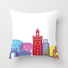 Brescia skyline pop Throw Pillow