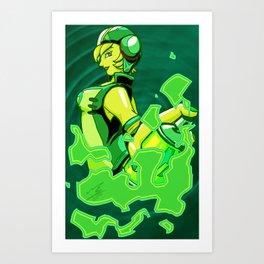 Green Gum Art Print