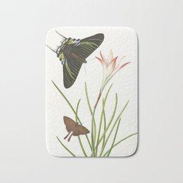 Two butterflies on a Lily, 1747 Bath Mat