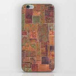 Red Patina Patchwork iPhone Skin