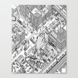 MacPaint project: NYC Canvas Print