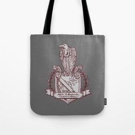 Nolite Te Bastardes Carborundorum_Burgandy Crest Tote Bag