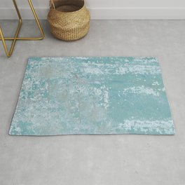 Galvanized Vintage Metal Blue Rug