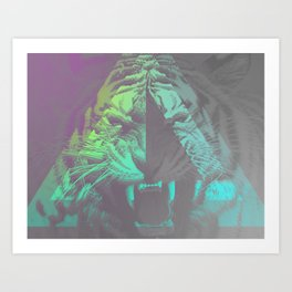 Neon Tri-ger Art Print