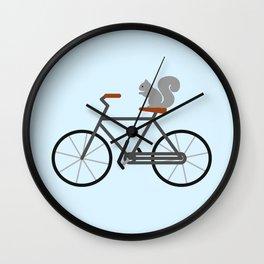 Squirrel Riding Bike Wall Clock