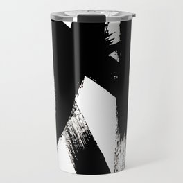 Brushstroke 2 - simple black and white Travel Mug