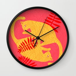 Cat Foliage 04 Wall Clock