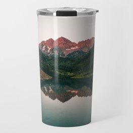 Maroon Bells Sunrise Reflection Travel Mug