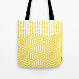 YZY yellow white Tote Bag
