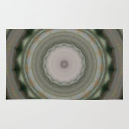 The Green Unsharp Mandala 9 (Camouflage Target) Rug