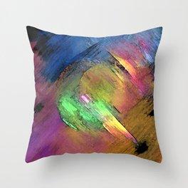 Rainbow Detour Throw Pillow