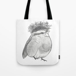 Bird with Bed Head Tote Bag
